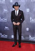 LOS ANGELES - APR 06:  Tim McGraw arrives to the 49th Annual Academy of Country Music Awards   on Ap