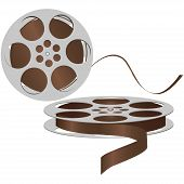 stock photo of magnetic tape  - Old magnetic tape reel to reel tape - JPG