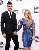 LAS VEGAS - MAY 18:  Shakira & Gerard Pique arrives to the Billboard Music Awards 2014  on May 18, 2