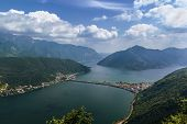 pic of salvatore  - view of Lugano lake from Monte San Salvatore Switzerland - JPG