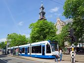 Amsterdam - Tram And People