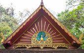 Thai Buddhist Temple Gable