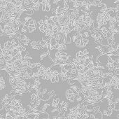 Vector Seamless Pattern Abstract Flowers