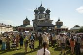 TIKHVIN, RUSSIA - JULY 9, 2014: Celebrations on the occasion of the 10th anniversary of the return o