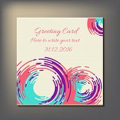 Beautiful abstract invitation card.