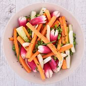 salad with carrot and radish
