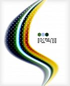 Smooth colorful business elegant wave design. Hi-tech modern abstraction