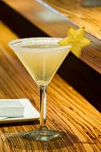 Star Fruit Martini Cocktail