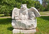 Eagle-owls Sculpture In Dmitrov, Russia