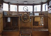 Wheelhouse Of And Historic Ship