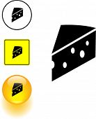 cheese slice symbol sign and button