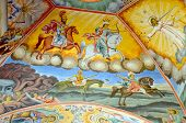 Roof painting at Rila Monastery church