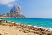 National Park Penyal d'Ifac mountain view at Calpe, Costa Blanca, Spain.