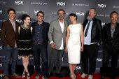 LOS ANGELES - JUL 9:  Manhattan Cast at the WGN Series Manhattan Photo Op July 2014 TCA at the Bever