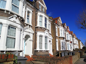 image of edwardian  - Victorian terraced town houses in London - JPG