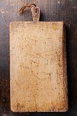 Chopping Cutting Board On Dark Wooden Background