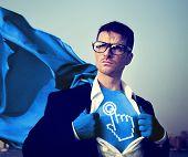 Start Strong Superhero Success Professional Empowerment Stock Concept
