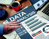 Data Analysis Businessman Calculating Thinking Planning Paperwork Concept