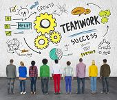 Teamwork Team Together Collaboration Group People Diversity Concept
