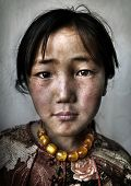 pic of mongolian  - Portrait of a Mongolian Girl - JPG