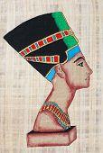 Nefertiti On Papyrus