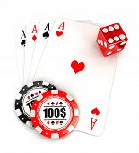 3d casino accessories