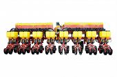 image of agricultural machine under the white background