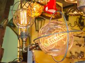 Old Carbon Light Bulb Filament