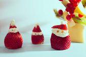 strawberry santa claus