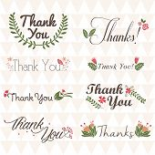 Thank You Decorative Flowers Stamp Set