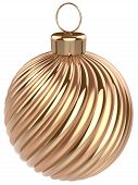 Christmas Ball New Years Eve Bauble Decoration Gold