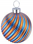 Christmas Ball Decoration New Year Bauble Blue Golden