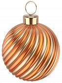 Christmas Ball New Years Eve Bauble Decoration Orange Gold
