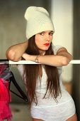 The Girl In A White Knitted Cap