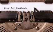 foto of time machine  - Vintage inscription made by old typewriter time for feedback - JPG
