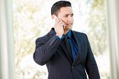 Businessman During A Call
