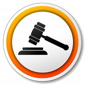 Gavel Orange Icon