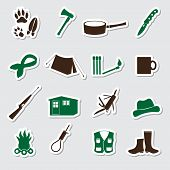 Simple Backwoodsman Stickers Set Eps10