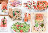 Many Food Watercolor Painting