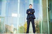 Successful Hispanic Boss