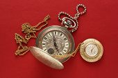 Two Pocket Watches With Chain