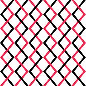 Seamless Red and Black Grid Pattern. Vector Background