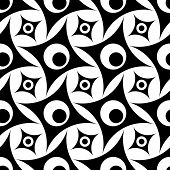 Seamless Rhombus Pattern in Black and White. Vector Texture