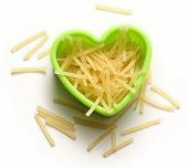 Pasta Tubes In Heart Form