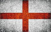 Abstract Mosaic flag of England