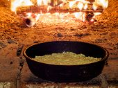 Baking Pie In Traditional Oven