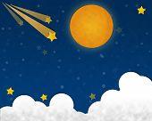 Full Moon At Starry Night