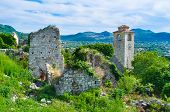 pic of yugoslavia  - The old clock tower is one of the most popular landmarks on the territory of the old fortress of Stari Bar Montenegro - JPG