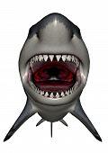 Megalodon dinosaur mouth - 3D render