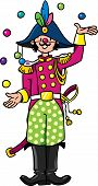image of juggler  - Children vector illustration of funny general or the clown or juggler in the form of General - JPG